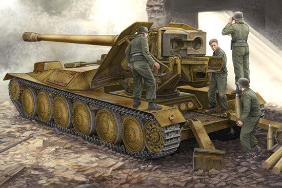 Trumpeter Military Models 1/35 German Krupp 1 12.8cm PaK 44 Waffentrager Weapons Carrier Kit