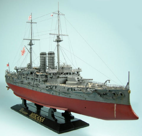 Hasegawa Ship Models 1/350 Japanese Navy Mikasa Battleship Battle of the Japan Sea Kit