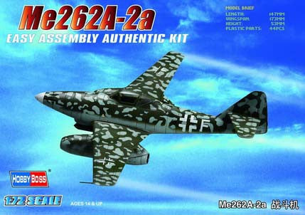 Hobby Boss Aircraft 1/72 Me-262A-1A Messerschmidt Kit