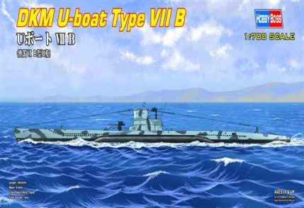 Hobby Boss Model Ships 1/700 U-Boat Type VII B Kit