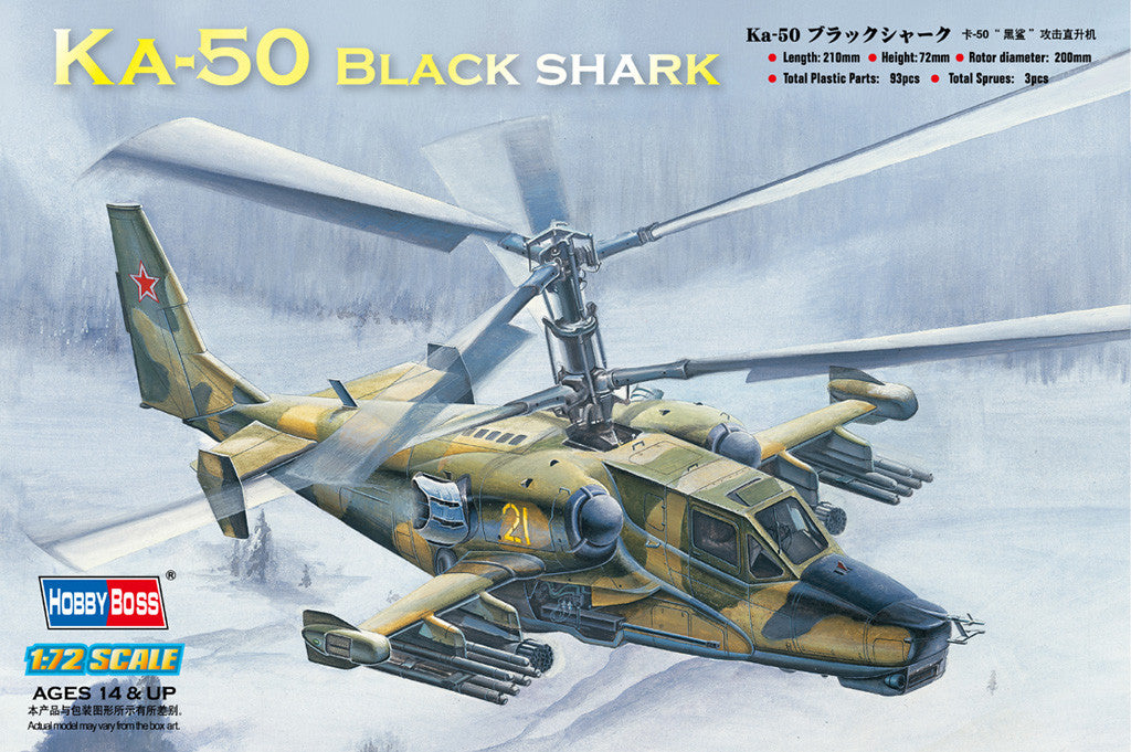Hobby Boss Aircraft 1/72 KA-50 Black Shark Kit