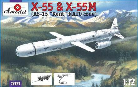 A Model From Russia 1/72 X55 & X55M (AS15 Kent Nato Code) Compact Strategic Cruise Missiles Kit