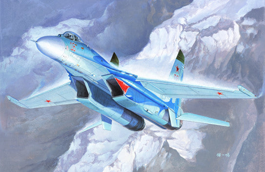 Trumpeter Aircraft 1/72 Sukhoi Su27 Flanker B Russian Fighter Kit