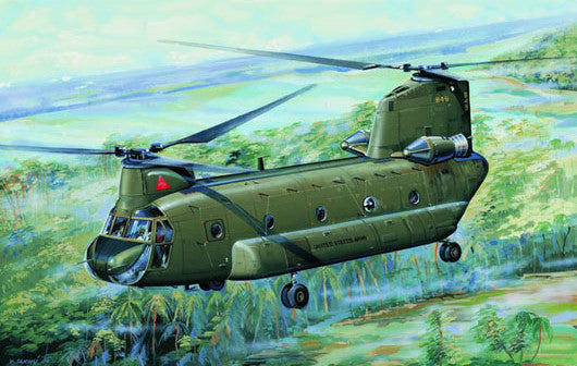 Trumpeter Aircraft 1/72 CH47A Chinook Medium-Lift Helicopter Kit