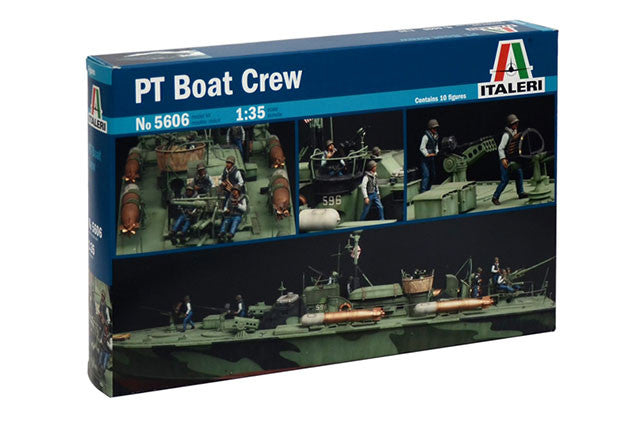 Italeri Model Ships 1/35 PT Boat Crew (10 Figures) Kit