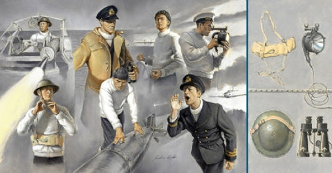 Italeri Model Ships 1/35 Vosper MTB Crew (7 Figures) Kit