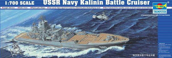 Trumpeter Ship Models 1/700 USSR Kalinin Soviet Navy Battle Cruiser Kit