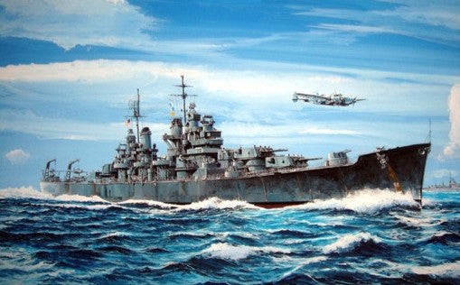 Trumpeter Ship Models 1/700 USS Baltimore CA68 Heavy Cruiser 1943 Kit