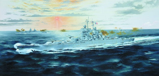 Trumpeter Ship Models 1/700 French Jean Bart Battleship 1955 Kit