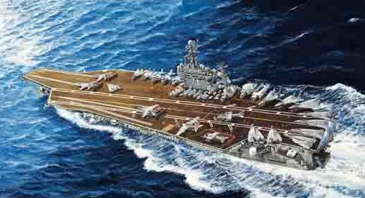 Trumpeter Ship Models 1/700 USS Theodore Roosevelt CVN71 Aircraft Carrier 2006 Kit