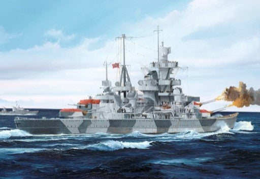 Trumpeter Ship Models 1/700 German Admiral Hipper Heavy Cruiser 1941 Kit