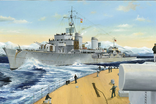 Trumpeter Ship Models 1/700 German Zerstorer Z25 Destroyer 1944 Kit