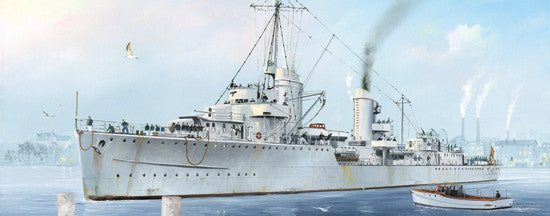 Trumpeter Ship Models 1/700 German Zerstorer Z7 Destroyer 1942 Kit