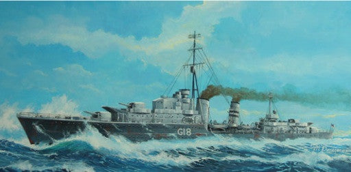 Trumpeter Ship Models 1/700 HMS Zulu (G18) British Tribal Class Destroyer 1941 Kit