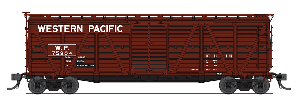 Broadway Limited HO Western Pacific Stock Car - Cattle Sounds