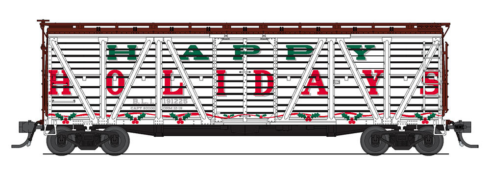 Broadway Limited HO Happy Holidays BLI 191225 (White, Red, Green) - Holiday Sounds