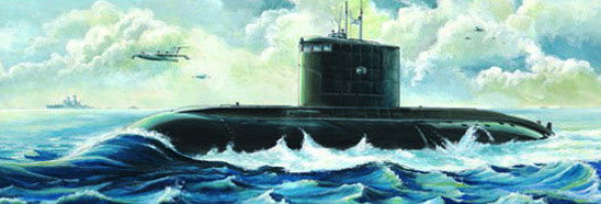 Trumpeter Ship Models 1/144 Soviet Kilo Class Type 636 Attack Submarine Kit