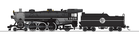 Broadway Limited HO USRA 4-6-2 Light Pacific - Sound & DCC - Paragon3 - Atlantic Coast Line 1525 (Black, Graphite)