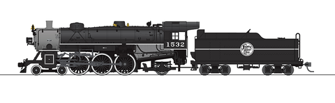 Broadway Limited HO USRA 4-6-2 Light Pacific - Sound & DCC - Paragon3 - Atlantic Coast Line 1532 (Black, Graphite)