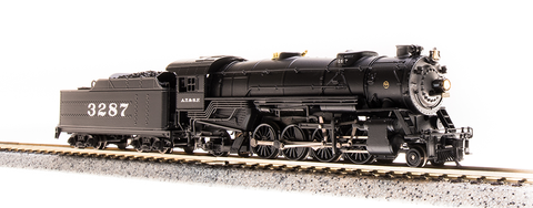 Broadway Limited N USRA 2-8-2 Heavy Mikado - Sound and DCC - Paragon3 - Santa Fe 3287 (Black, Silver)