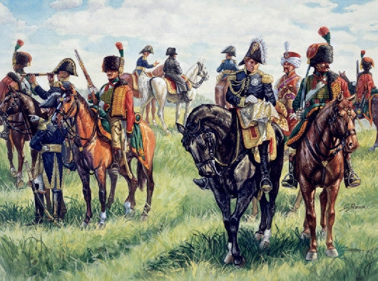 Italeri Military 1/72 Napoleonic War: French Imperial General Staff (21 w/13 Horses) Set