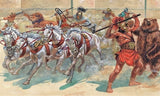 Italeri Military 1/72 Gladiators (13, 4 Horses, Chariot, 2 Lions, Bear) Set