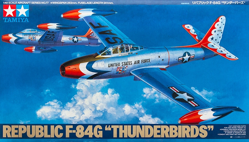 Tamiya Aircraft 1/48 Republic F-84G Thunderbirds Kit