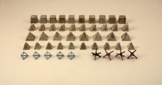 Italeri Military 1/72 Anti-Tank Obstacles Kit