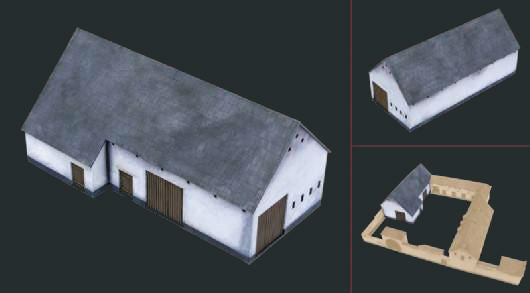 Italeri Military 1/72 Waterloo 1815 La Haye Sainte Barn (Laser Cut Fiberboard w/Etched Details) Kit