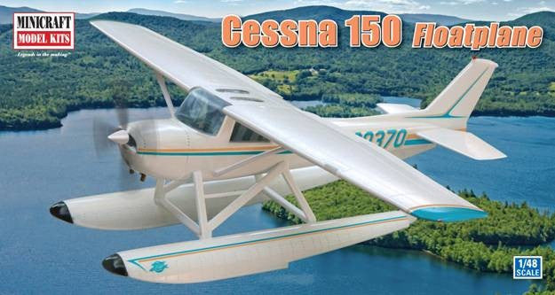 Minicraft Model Aircraft 1/48 Cessna 150 Floatplane Kit