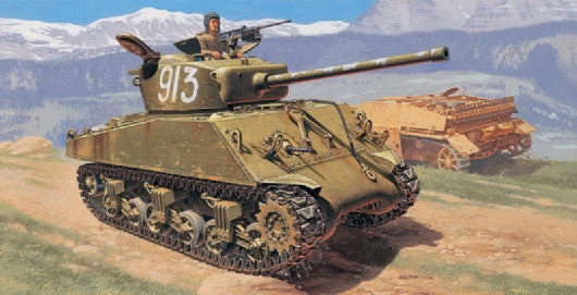 Italeri Military 1/35 M4A2 76mm Wet Sherman Tank Kit