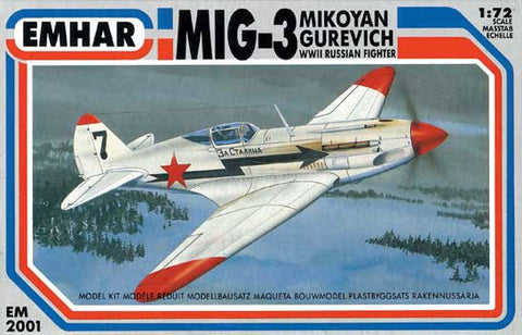 Emhar Aircraft 1/72 WWII MiG3 Russian Fighter Kit