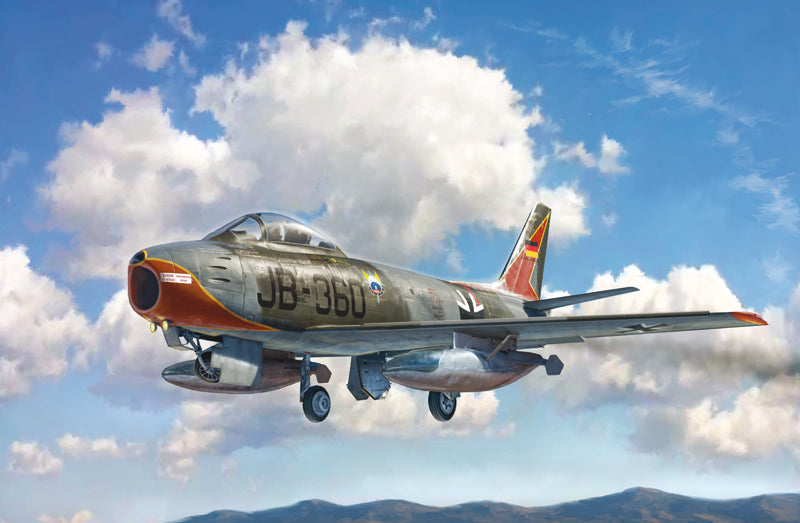 Italeri Aircraft 1/48 F86E Sabre Jet Fighter Kit