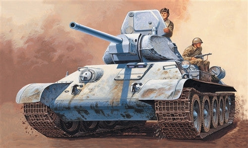 Italeri Military 1/72 T34/76 Russian Tank Kit