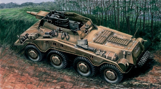 Italeri Military 1/72 German SdKfz 234/3 Heavy Armored Vehicle w/7.5cm Howitzer Kit