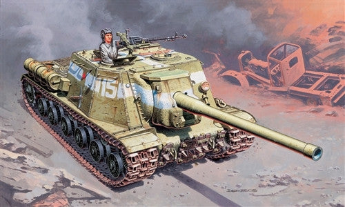 Italeri Military 1/72 Russian ISU122 Anti-Tank Vehicle Kit