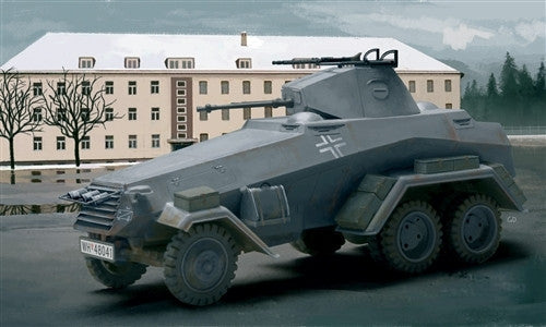 Italeri Military 1/72 German SdKfz 232 6-RAD Armored Scout Car Kit