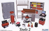 Fujimi Car Models 1/24 Garage Tools Set #2 (Compressor, Shop Vac, Lockers, etc.) Kit