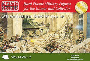 Plastic Soldier 1/72 Late WWII British Infantry 1944-45 (66) Kit