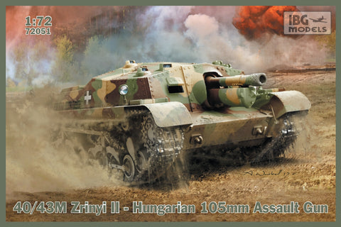 IBG Military Models 1/72 40/43 Zrinyi II Hungarian 105mm Assault Gun Tank (New Tool) Kit