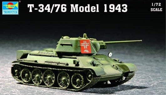 Trumpeter Military Models 1/72 Soviet T34/76 Mod 1943 Army Tank Kit
