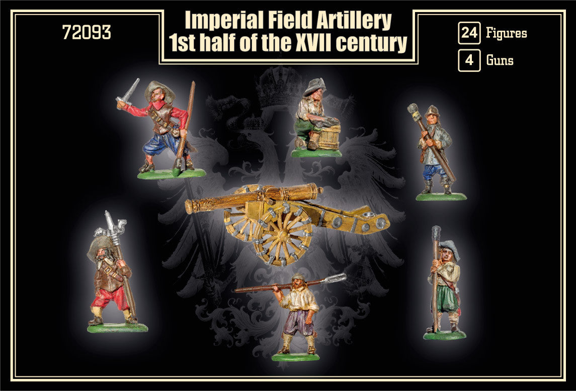 Military Models 1/72 1st Half XVII Century Imperial Field Artillery (24 w/4 Guns) Kit