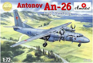 A Model From Russia 1/72 Antonov An26 Late Version Russian Military Cargo Aircraft Kit