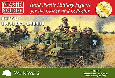 Plastic Soldier 1/72 WWII British Universal Carrier (3) Kit