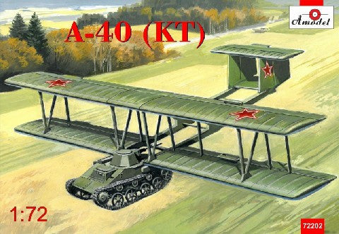 A Model From Russia 1/72 Antonov A40 (KT) Proto-Type Flying Tank using T60 Kit