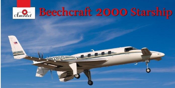 A Model From Russia 1/72 Beechcraft 2000 Starship N82850 Twin-Engined Business Aircraft Kit