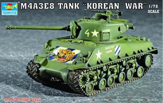 Trumpeter Military Models 1/72 M4A3E8 Tank w/T80 Tracks Kit