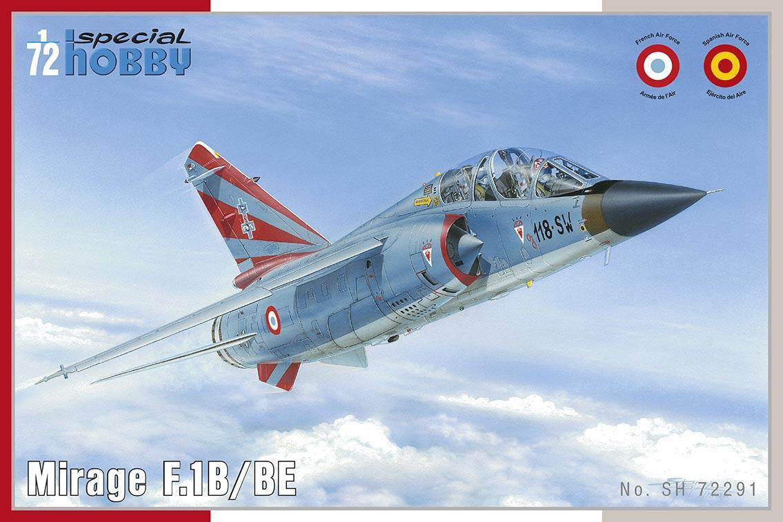 Special Hobby Aircraft 1/72 Mirage F1B/BE French Fighter Kit