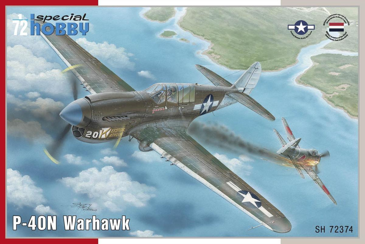 Special Hobby Aircraft 1/72 P40N Warhawk Fighter Kit