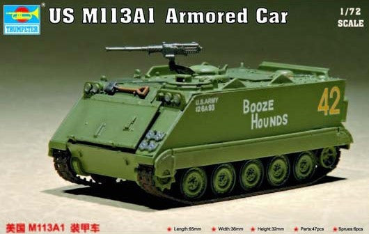 Trumpeter Military Models 1/72 US M113A1 Armored Personnel Carrier Kit